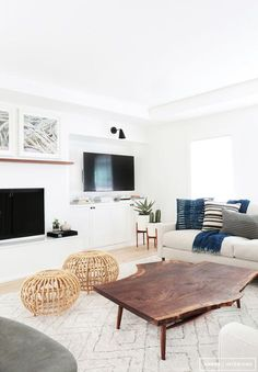 beautiful bright interior - wood accent