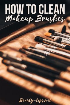 How to clean makeup brushes at home using olive oil, vinegar or shampoo. Extra makeup tips on taking care of your makeup brushes and how to dry them after cleaning: http://www.beauty-tips.net/cleaning-makeup-brushes