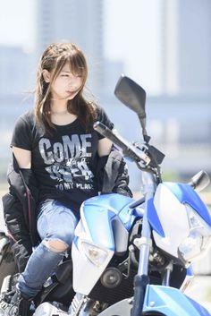 Motorcycle Harley Biker Chick Outfit 44 Ideas For 2019 Biker Chick Outfit, Motorcycle Outfit, Motorcycle Girls, Lady Biker, Biker Girl, Motos Vespa, Cafe Racer Girl, Scooter Girl, Hot Rides
