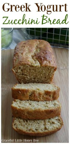 Try this Greek Yogurt Zucchini Bread using fresh shredded zucchini from the garden on gracefullittlehoneybee.com