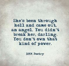 What a great quote. POWER