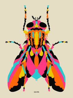 House Fly Art Print by Chicken Billy