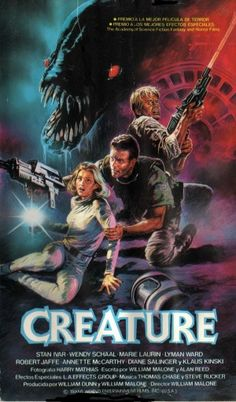 Creature movie vhs cover