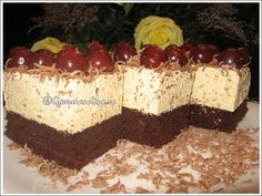 Prajitura cu rom si visine Diy And Crafts, Cheesecake, Deserts, Food And Drink, Sweets, Fine Dining, Salad, Cheesecakes, Postres