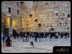 """The Western Wall, or """"Kotel"""" in Hebrew, is the one of four retaining walls surrounding the Temple Mount in Jerusalem. It served as the western support"""