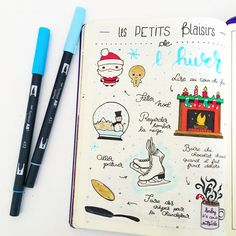 40 bullet journal winter doodle ideas you can use to spruce up your spreads, planners, trackers, and collections in your bullet journal.