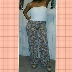 Floral Strapless Jumper - Size Xl. .New!!!!