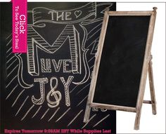 $27.50 {Personal Touches} *LARGE* Wood Tabletop Chalkboard~Enjoy Today's Steal from DECOR STEALS