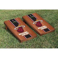 Miami Heat Rosewood Cornhole Game Set - $249.99