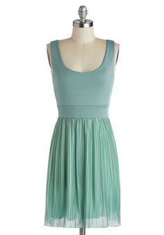 Dress #3 It's About That Thyme Dress. Theres no time like now to spice up your day with the thyme-green tone of this lined scoop-neck dress! #mint #modcloth