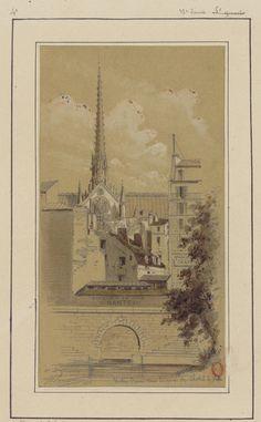 Notre Dame vue du quai de l'hotel de Ville (1800s)   Flickr - Photo Sharing!