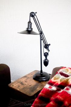 The Kylen Table Lamp brings an urban industrial touch to any room with its fully-functional pulley system. For a vintage touch, opt for an Edison-style light bulb. Desk Lamp, Table Lamp, Family Apartment, Urban Industrial, Pulley, Accent Decor, Light Bulb, Touch, Mini