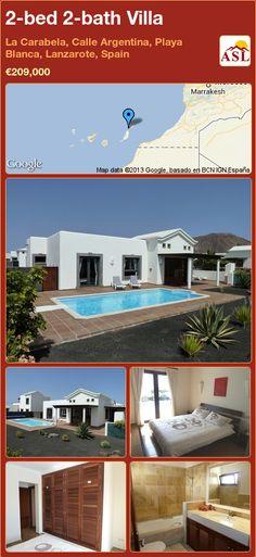 2-bed 2-bath Villa in La Carabela, Calle Argentina, Playa Blanca, Lanzarote, Spain ►€209,000 #PropertyForSaleInSpain