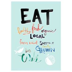 Eat local, eat fresh poster
