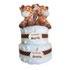Tarta África gemelos #animals #diaper #gifts #baby #babies