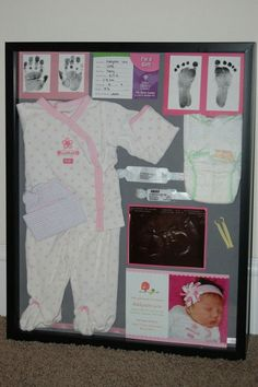 20 Shadow Box Ideas, Cute and Creative Displaying meaningful memories Shadow Box Ideas - Shadow boxes are a distinct means to maintain memories as well as tokens Diy Shadow Box, Shadow Box Frames, Baby Shadow Boxes, Newborn Shadow Box, Baby Frame, Baby Box, Baby Memories, Baby Keepsake, Baby Crafts
