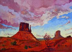 Monument Valley original oil painting for sale at The Erin Hanson Gallery