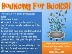 Great fund-raising idea! Ask some bounce places if they will do this.