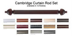 Cambridge - Custom Select Wood Rod Set 1-3/8