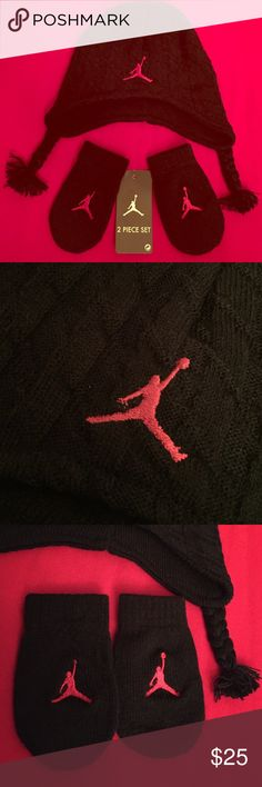 🆕 ONLY 1! Nike Jordan Infant Beanie & Mittens Set Authentic Nike Jordan Infant Beanie & Mittens Set. 12-24 Months. Unisex. Red & Black. Red Embroidered Jumpman Logo on the Front of the Beanie & Mittens. 100% Acrylic. Brand New. Excellent Condition. No Trades. Nike Accessories Hats