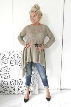 AMALFI QUEEN Linen Tunic, NATURAL - BYPIAS Linen Knits - BYPIAS
