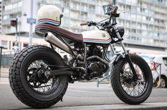 "Yamaha Tw 125cc "" The light shade "" #custom #morex #yamaha #TW #125cc #bike #ride #lifestyle #moto"