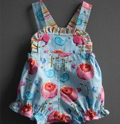 Sweet Birdie Romper Pattern (18 - 24 mos)  Lots of sweet rompers and things for baby - free patterns