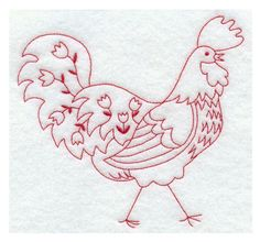 rooster embroidery....for  kitchen