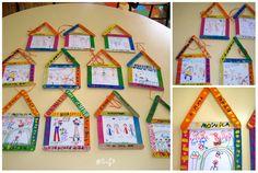 Palitos de helado Kids Food Crafts, Family Crafts, Fun Crafts For Kids, Preschool Crafts, Art For Kids, Arts And Crafts, Ks1 Maths, Popsicle Crafts, Home Art