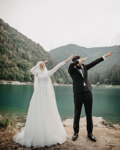Image may contain: 1 person, standing, wedding, outdoor and nature Hijabi Wedding, Muslimah Wedding Dress, Muslim Wedding Dresses, Cute Muslim Couples, Cute Couples, Wedding Photography Poses, Couple Photography, Fashion Photography, Couple Goals Tumblr
