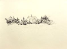 """""""The Headlands"""", 8 x pencil on sketch paper, circa Unfinished, copied from the book 'Drawing Landscapes in Pencil' by Ferdinand Petrie. Pencil Drawings Of Nature, Landscape Sketch, Sketch Paper, Book Drawing, Watercolor Tutorials, Ferdinand, Landscapes, Sketches, Outdoor"""