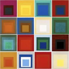 Homage to the Square sequence - Josef Albers