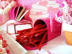 Licorice mailbox for Valentine's Day