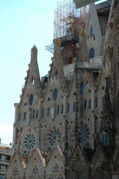 La Sagrada Familia, imaginée par Gaudi. Barcelone.