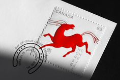 Canada Post / Year of the horse by Paprika, via Behance Year Of The Horse, Canada Post, Print Finishes, Stamp Collecting, My Stamp, Chinese New Year, Postage Stamps, Horses, Graphic Design