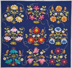 Midnight Garden quilt by Deborah Kemball, in: Twilight Garden Quilts (C Publishing)