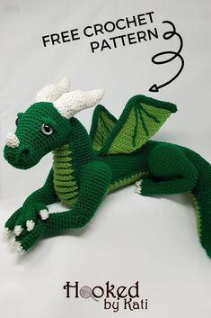 Vincent is a large crochet dragon amigurumi from Hooked by Kati. The pattern is free or in a detailed paid Premium Pattern with extra photo tutorials. Knitting PatternsKnitting For KidsCrochet PatternsCrochet Amigurumi Crochet Dinosaur Patterns, Crochet Dragon Pattern, Crochet Amigurumi Free Patterns, Crochet Dolls, Free Crochet, Crochet Food, Knitted Dolls, Stuffed Animal Patterns, Crochet Animals