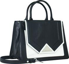 KARL--三角釦撞色時尚兩用仕女包
