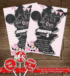 HUGE SELECTION Light Pink Minnie Mouse Invitation -  Minnie Polka Dot - My Celebration Shoppe - Printable Invitation - Minnie Mouse Ideas