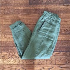 50731b9e6761c Crew (retail) linen joggers Super cute pair of joggers linen. Only worn once,  really good condition!