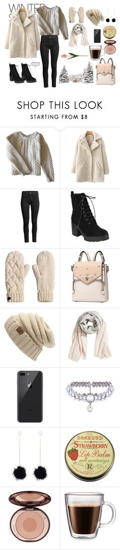 """""""Snow"""" by ol67 ❤ liked on Polyvore featuring Anine Bing, WithChic, Frontgate and winterscarf"""