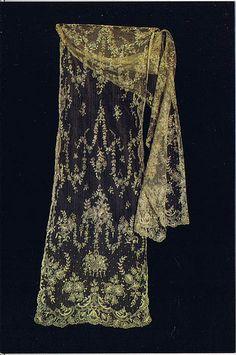 Limerick Tambour Lace stole c.1900