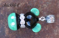 European Style St Patricks Day Lucky Mickey Mouse Style Disney Inspired DeSIGNeR Lampwork Bracelet Charm Disneyland Green Irish on Etsy, $32.00