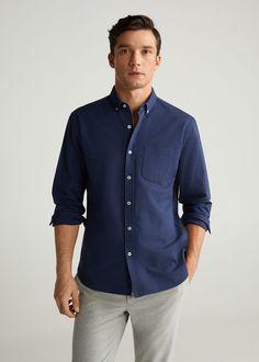 Regular fit-hemd aus oxfordgewebe - Herren | Mango Man Österreich