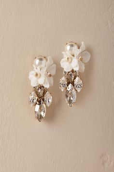 Orchid Waterfall Earrings from @BHLDN