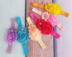 Hoofdband meisjes Flower bruiloft hoofdband van SewPearl op Etsy