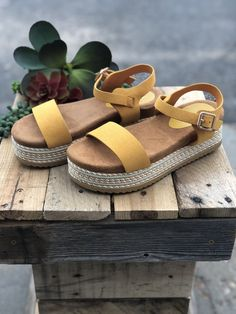 Marigold Espadrille Sandal Is the perfect sandal to add a pop of color to any outfit! Shop Horse Creek Boutique for all your outfit needs! Espadrille Sandals, Espadrilles, Beautiful Sandals, Summer Shoes, Color Pop, Booty, Ankle, Boutique, Marigold