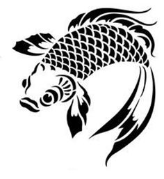 Rise Hall stencils from The Stencil Library. Buy from our range of Rise Hall stencils online. Page 1 of our Rise Hall stencil catalogue. Koi Fish Drawing, Fish Drawings, Fish Stencil, Stencil Art, Stencil Patterns, Stencil Designs, Doodle Drawing, Stencils Online, Carpe Koi