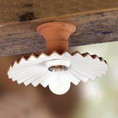 Plafondlamp ARGILLA in landhuisstijl 2013020, 76,90 euro, 14 cm hoogte, voor overloop 2e, wel een mooie gloeilamp erbij gewenst