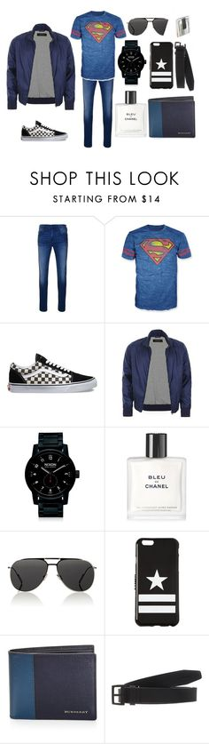 """""""superman"""" by lea-bdlt on Polyvore featuring True Religion, Bioworld, Vans, Gucci, Nixon, Chanel, Dior Homme, Givenchy, Burberry et Dsquared2"""